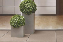 large tile and plants