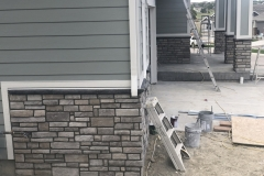 Exterior front house painting